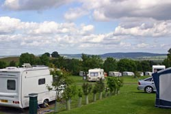 caravanning in Northumberland